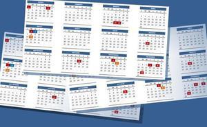 El calendario laboral de 2019 tendrá ocho festivos con dos puentes nacionales