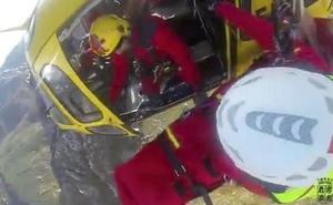 Así fue el rescate en helicóptero en el Pico Bodón