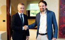Iglesias y Urkullu abogan por «cuidar» la mayoría de Sánchez y blindar la legislatura