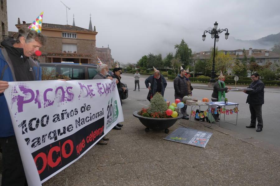 Protesta de Ecologistas en Acción en Picos de Europa