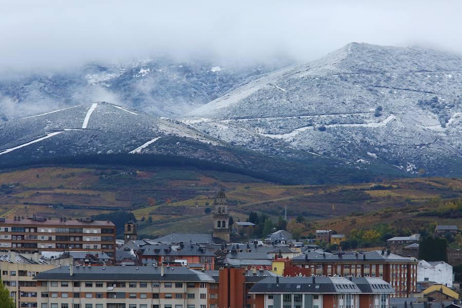La huella de la nieve en El Bierzo