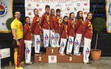 Once medallas para leonesas en Miranda de Ebro