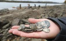 La sequía expone un tesoro de 2.000 monedas de plata y oro en el Danubio