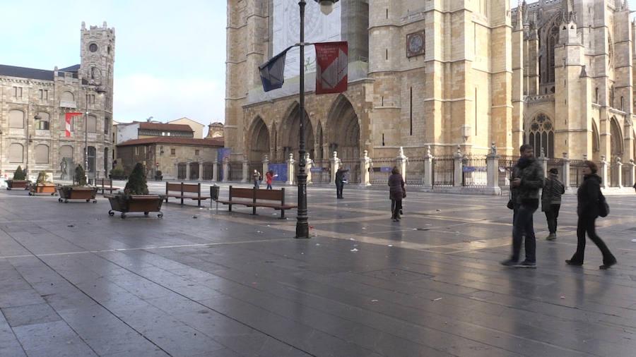 La limpieza no madruga en León