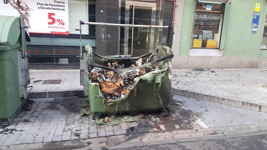 Queman un contenedor en León capital