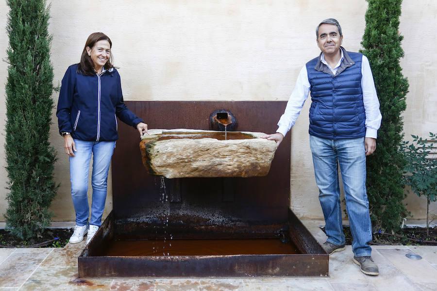 Vendimia en los viñedos de la bodega Fuentes del Silencio situada en Herreros de Jamuz