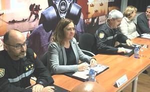 La UME de León muestra a Barcones sus medios y metodologías para afrontar las emergencias