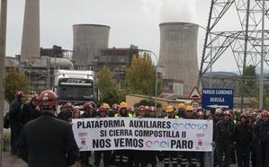 Los trabajadores de las auxiliares de Endesa se manifestarán en Ponferrada para evitar quedar en la calle «en menos de un mes»