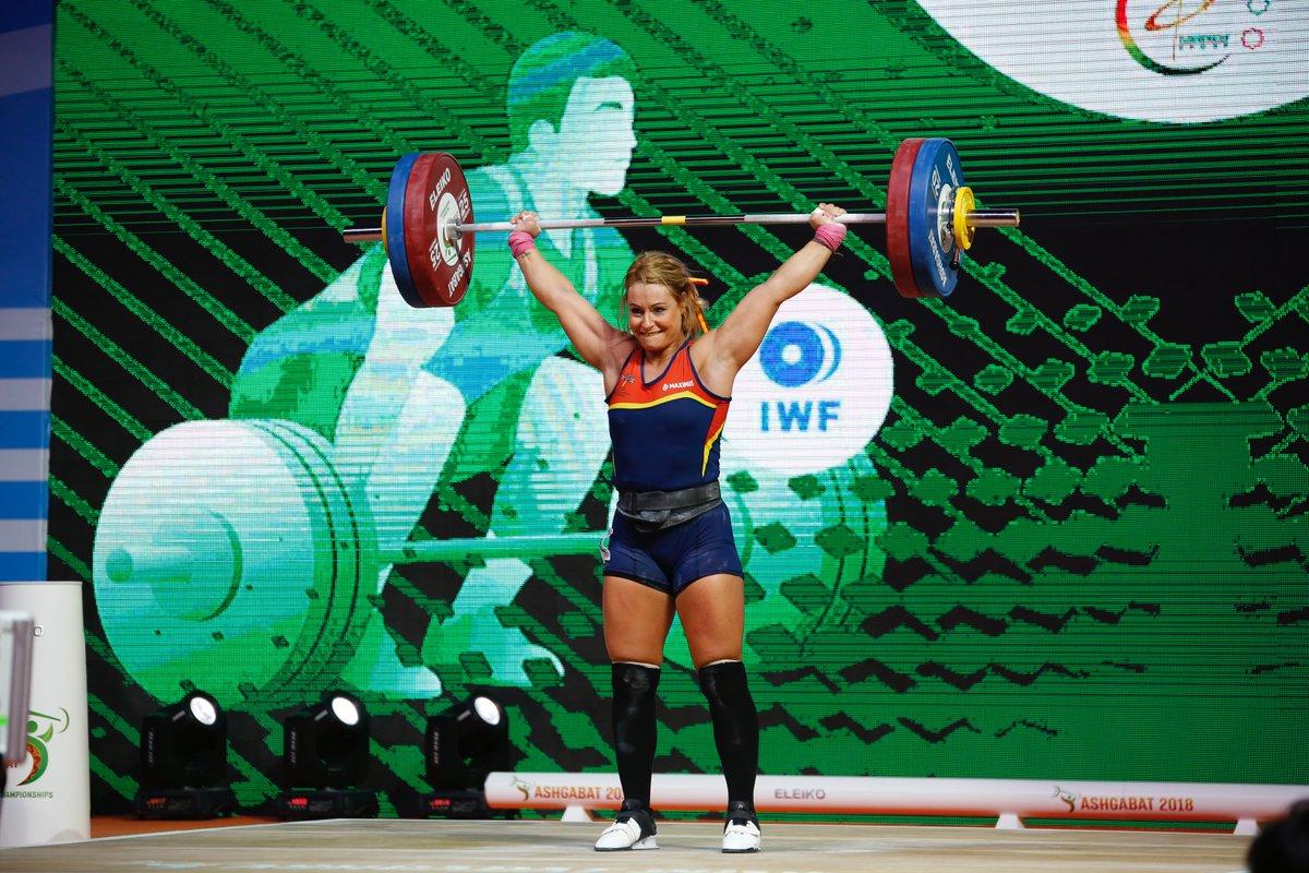 Lydia Valentín, en el Campeonato del Mundo de Halterofilia de Turkmenistán