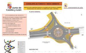 La nueva glorieta de acceso al Parque Tecnológico, que registrará 15.000 vehículos diarios, supondrá una inversión de 573.356 euros
