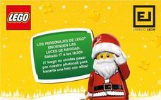 Santa, Batman y Superman de LEGO encienden las luces de Navidad de Espacio León