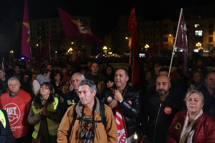 Manifestación del 15-N por las calles de León