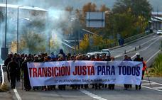 Toreno da alas a la marcha de los mineros de las subcontratas que exigen una transición justa para todos