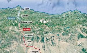 El plan de Fomento recorta en una hora y 15 minutos el viaje en tren de León a Gijón en tres años tras finalizar el soterramiento y abrir la Variante de Pajares