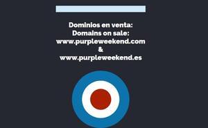 El Purple Weekend se queda sin página web a menos de 15 días de su comienzo