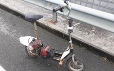Detenido en Lugo por conducir un patinete de fabricación casera con el motor de una desbrozadora