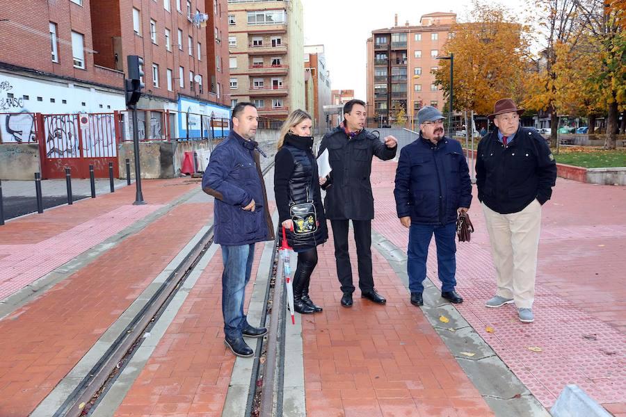 Visita institucional al trazado ferroviario del barrio de San Mamés