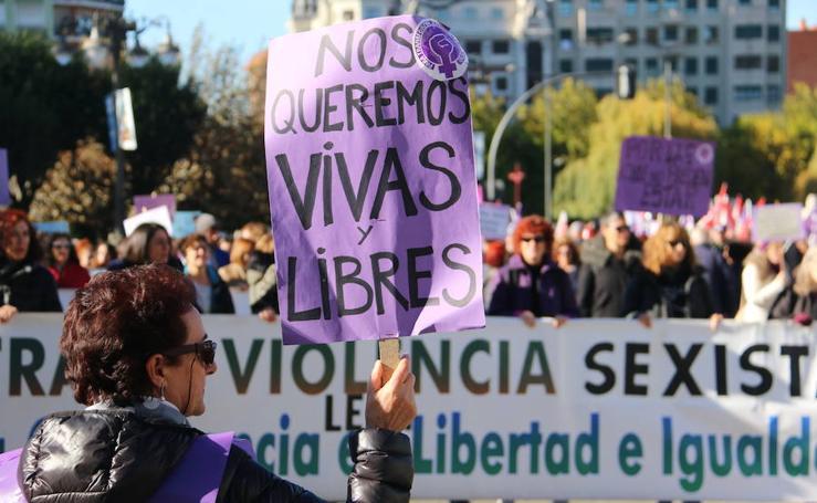 Manifestación contra la eliminación de la violencia de género