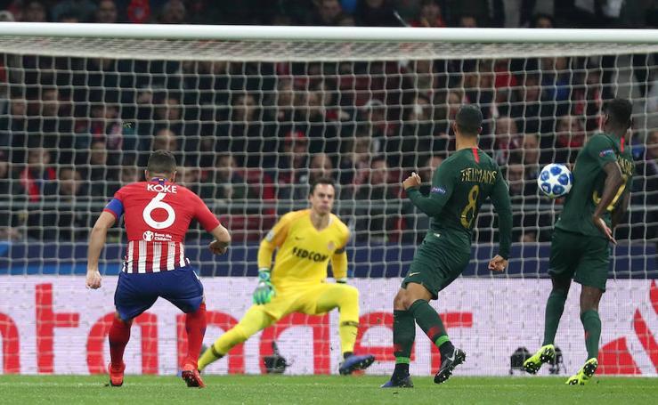 Las mejores imágenes del Atlético-Mónaco