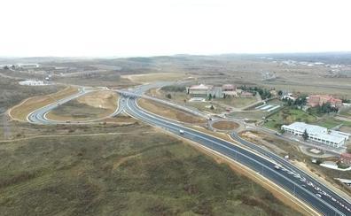 El nuevo acceso a León, a vista de dron