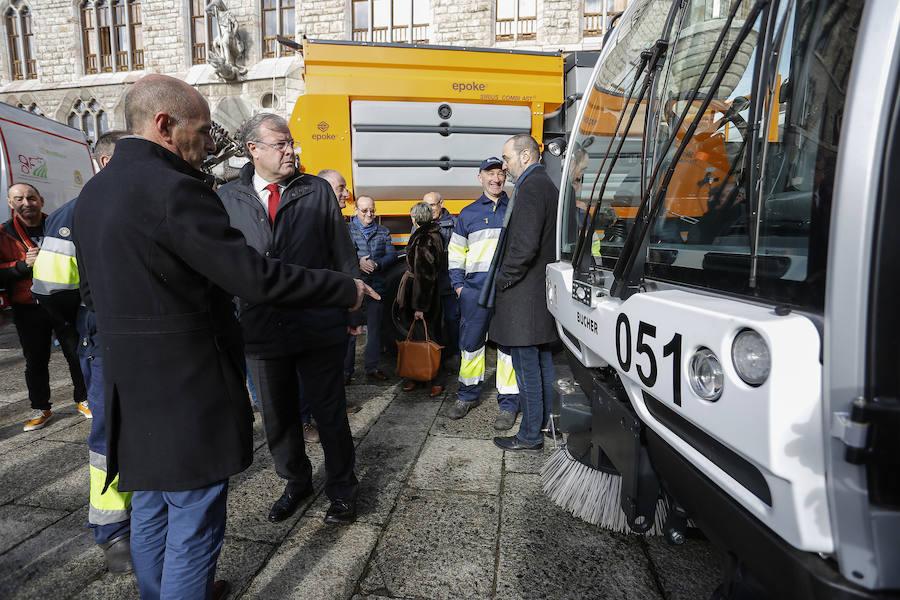 Nueva maquinaría en el servicio de limpieza de León capital