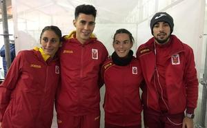 Saúl Ordóñez, campeón de Europa de cross en el relevo mixto