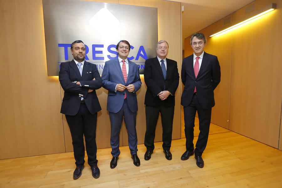 Alfonso Fernández Mañueco, visita la empresa Tresca Engineering Solutions