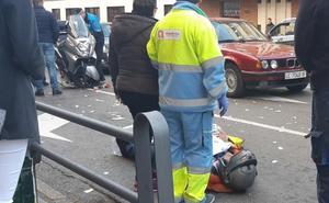 Herido el conductor de una moto tras perder el control en Alcalde Miguel Castaño