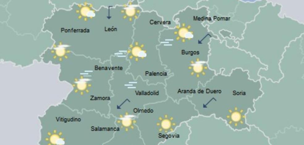 Castilla y León registra siete de las diez temperaturas más bajas del país la pasada madrugada