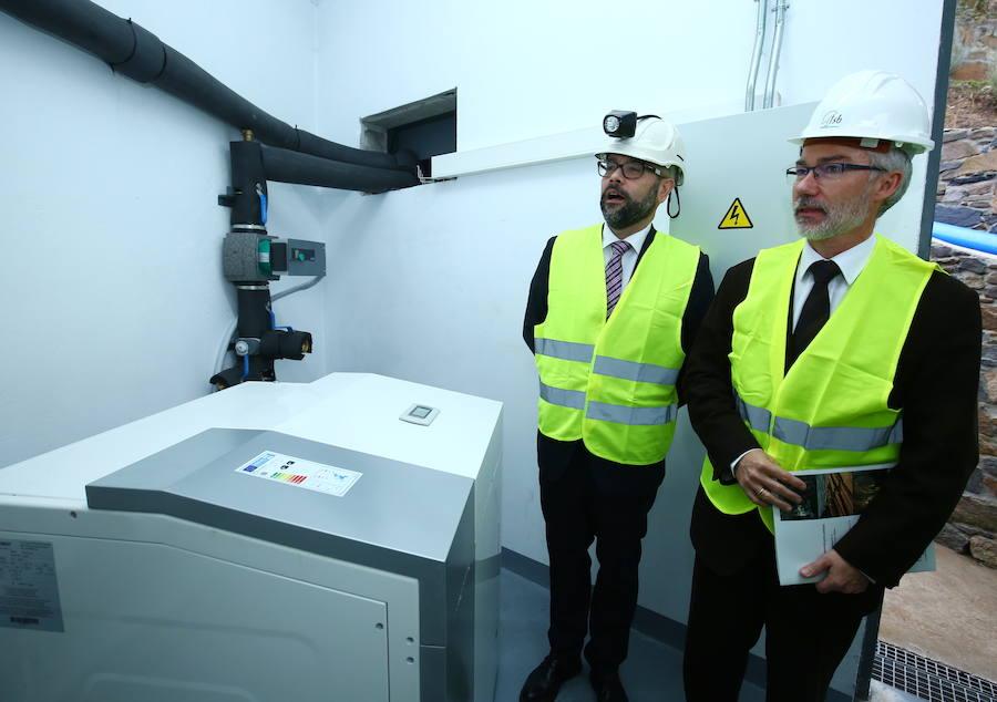 Inauguración del centro de generación de energía geotérmica de la Fundación Santa Bárbara
