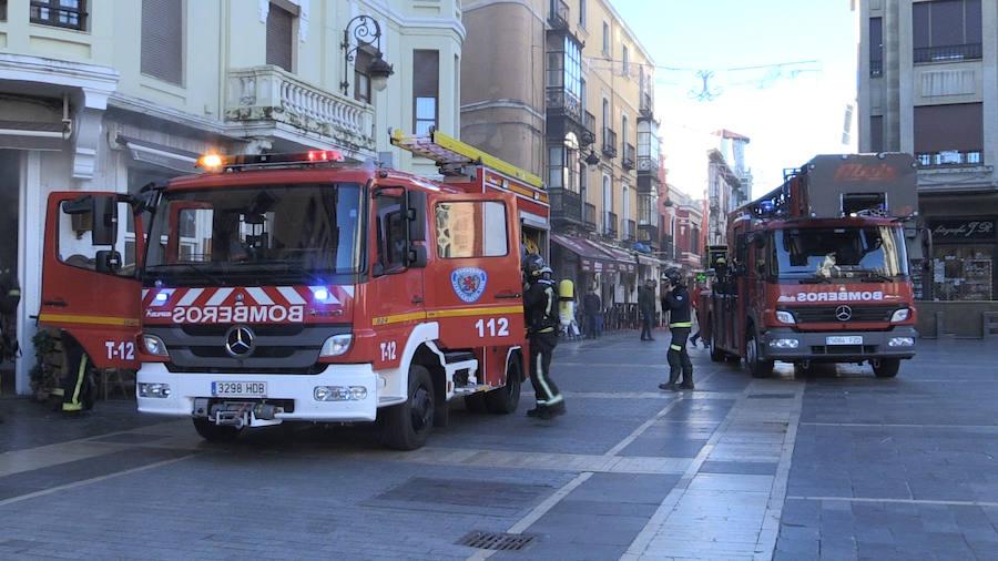 Incendio en un bar del centro de León