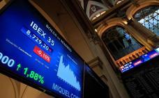El Ibex-35 remonta un 0,44% y consolida los 8.700 puntos