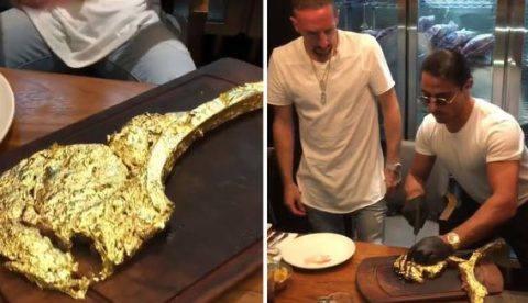 Ribéry se gasta 1.400 euros en una chuleta bañada en oro
