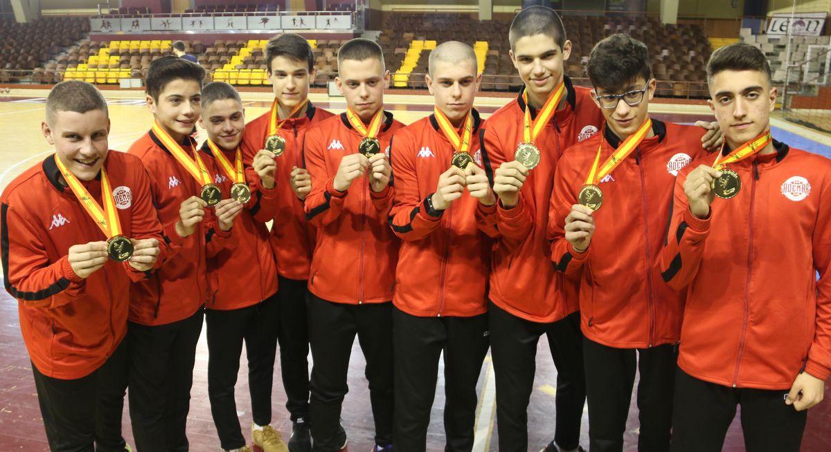 El oro nacional de los cadetes del Ademar