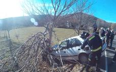 Herido de gravedad un conductor tras salirse de la vía y colisionar contra un árbol en La Garandilla
