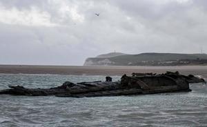 Reaparece en una playa francesa un submarino alemán de la Primera Guerra Mundial