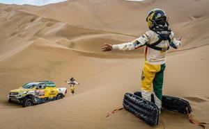 Calleja avisa: «Soy muy cabezón y hasta que no acabe un Dakar, no voy a parar»