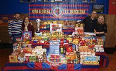 La Peña Leonesa FC Barcelona recoge más de 1.000 kilos de alimentos