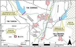 El Sindicato Central del Embalse de Los Barrios de Luna urge la construcción de las balsas del Órbigo