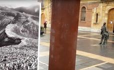 Las primeras briznas de nieve sobre León capital