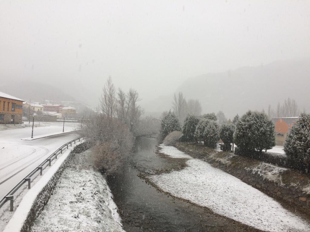 Imágenes de la primera gran nevada del 2019