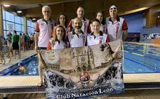 El Club Natación León, octavo en el Territorial Master