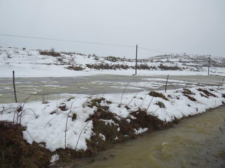 León, bajo la nieve... y la lluvia