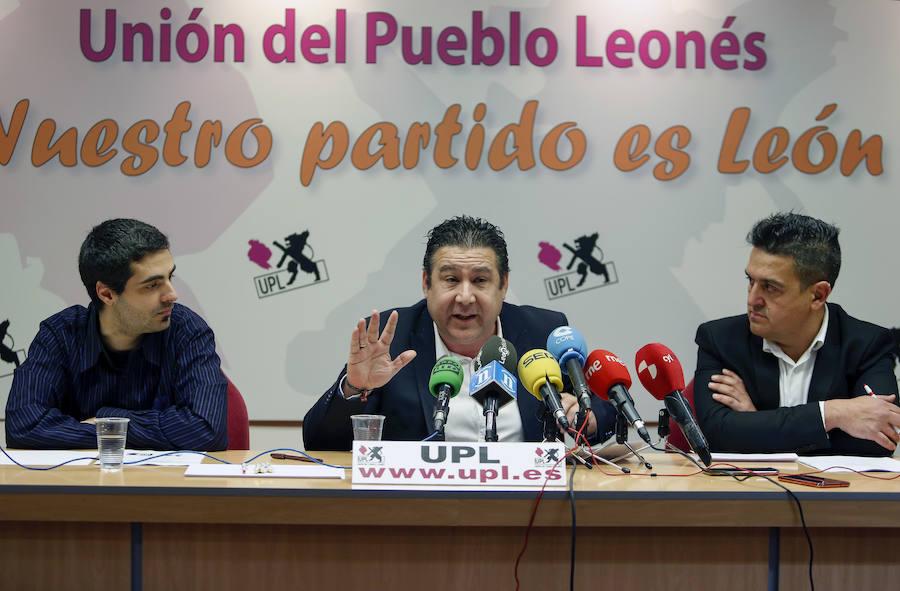Comparecencia de senadores de Compromís y responsables de la UPL y Ciudadanos del Reino de León
