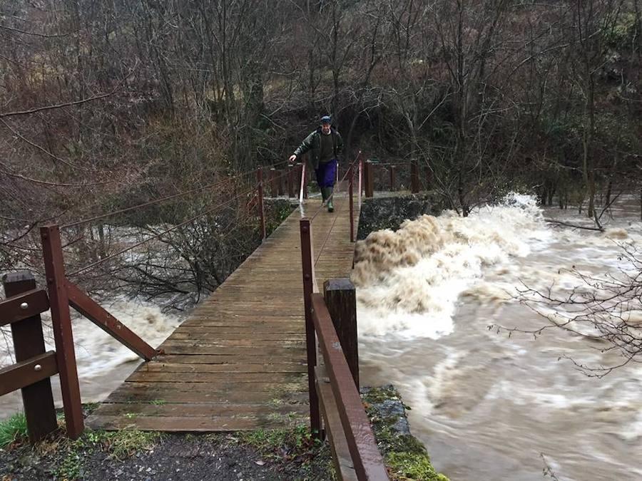 La riada sorprende al valle de Valdeón
