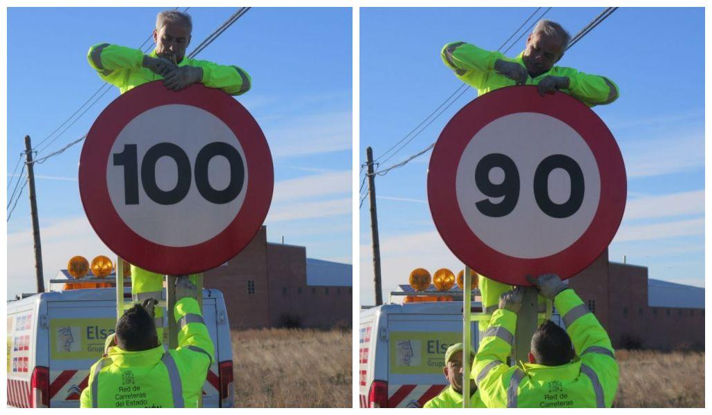 115 señales pasan de 100 a 90 kilómetros por hora en León, una medida que «no es un capricho»
