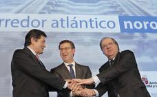 Castilla y León, Galicia y Asturias exigen a Fomento «fondos» para el Corredor Noroeste