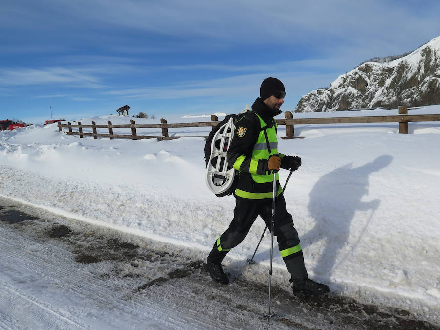 Emergencia: una persona perdida en la nieve