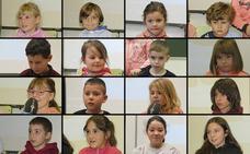 La historia según el futuro; los niños de La Biesca explican la vida del pantano de Luna