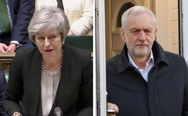 Theresa May y Jeremy Corbyn./AFP/Reuters